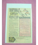 1970's Strat-O-Matic Baseball Game Color Ad - $7.99