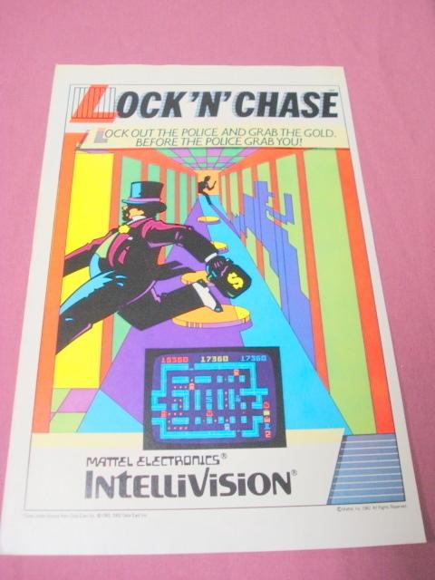 1982 Ad Lock 'n' Chase Mattel Electronics Video Game - $7.99