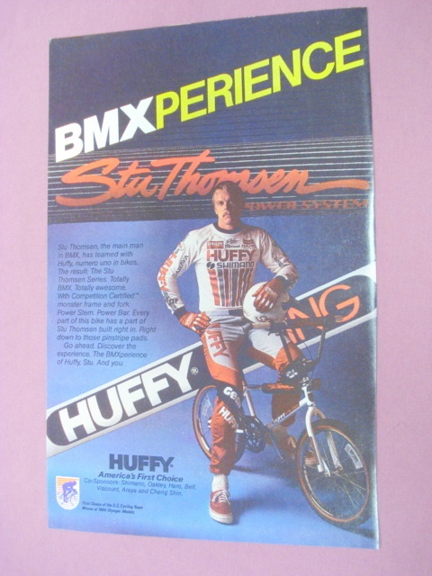 1985 Ad Huffy BMX Racing Bike Featuring Stu Thomsen - $7.99