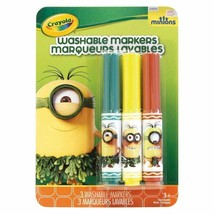 Crayola Minions Washable Markers -Baby Fir Green - Banana Bonanza - Copper Penny