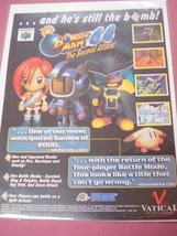 2000 Ad Bomber Man 64 The Second Attack Video Game - $7.99