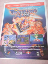1999 Ad Thousand Arms Video Game Atlus - $7.99