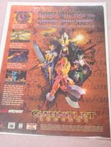 1999 Ad Gauntlet Legends Video Game Midway - $7.99
