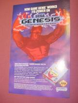 1992 Ad Galoob Game Genie For Sega Genesis - $7.99