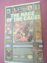 1992 Ad WWF WrestleMania Steel Cage Challenge - $7.99