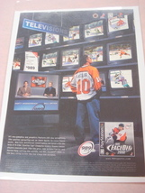 1999 Ad NHL FaceOff 2000 Video Game 989 Sports - $7.99