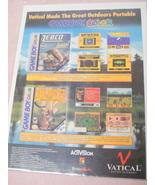1999 Ad Zebco Fishing & Deer Hunter Video Games - $7.99