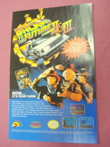 1990 Ad Back To the Future Part II & III Video Game - $7.99