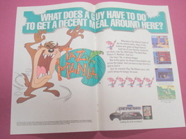 1992 Ad Taz-Mania Video Game - $7.99