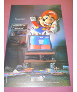 2000 Got Milk? Ad with Mario Character from Nintendo - $7.99