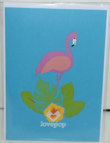 Lovepop LP1816 Flamingo Pop Up Card with White Envelope Package 1