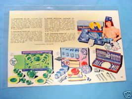 1950's Illustrated Color Catalog Page Banner Toys - $9.99