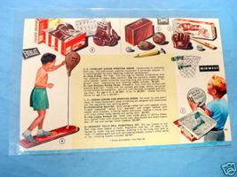 1950's Illustrated Color Catalog Page Everlast & Cosmo - $9.99