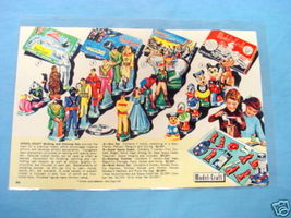 1950's Illustrated Color Catalog Page Model-Craft Sets - $9.99