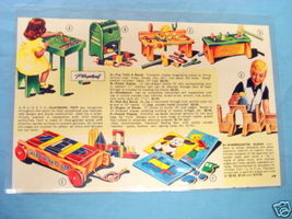 1950's Color Illustrated Catalog Page Playskool - $9.99