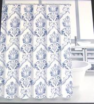 Tahari Chinoisserie Damask Blue White Shower Curtain - $39.00