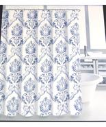 Tahari Chinoisserie Damask Blue White Shower Curtain - $39.00