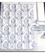 Tahari Chinoisserie Damask Blue White Shower Curtain - $36.00