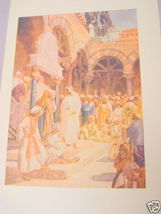 1913 Illustrated Page Christ Challenges Chief Priests - $7.99
