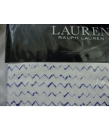 Ralph Lauren Nora Zig Zag Blue on White Sheet Set King - $232.00