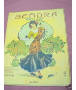 1908 Senora Waltzes Sheet Music - $7.99