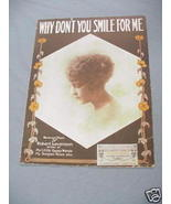 1919 Sheet Music Why Don't You Smile For Me - $7.99