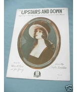 1919 Sheet Music Upstairs and Downstairs - $7.99