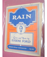 Rain Sheet Music Eugene Ford Copyright 1927 - $7.99