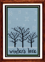 Winter's Lace cross stitch chart Misty Hill Studio - $7.20