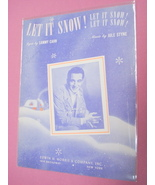 Let It Snow! Sheet Music Perry Como Cover 1945 - $7.99