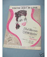 1950 Sheet Music You're Just In Love Call Me Madam - $7.99