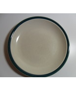 STONEWARE Made in CHINA round 10 in. DINNER PLATE GREEN TRIM Very Nice F... - $17.97