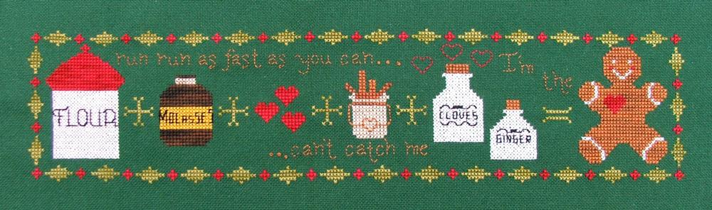 Sweet Addition gingerbread christmas cross stitch chart Misty Hill Studio