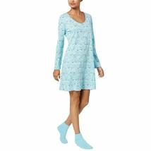 Charter Club Graphic-Print Cotton Sleepshirt with Matching Socks 17108 B... - $25.71