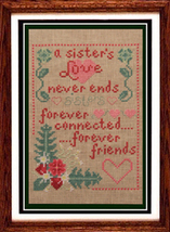 A Sister's Love cross stitch chart Misty Hill Studio - $9.00