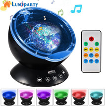 Lumiparty Remote Control Ocean Wave Projector 12 LED 7 Colors Night Ligh... - €35,50 EUR