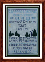 Psalm 46:10 religious cross stitch chart Misty Hill Studio - $14.40