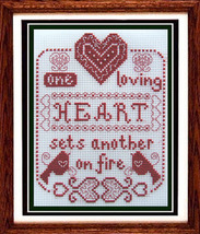 One Loving Heart cross stitch chart Misty Hill Studio - $9.00