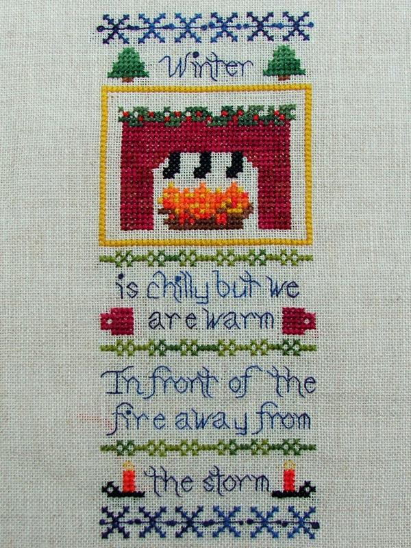 Little Winter holiday cross stitch chart Misty Hill Studio