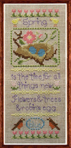 Little Spring holiday cross stitch chart Misty Hill Studio - $9.00