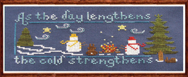 How Cold Is It? holiday cross stitch chart Misty Hill Studio - $9.00