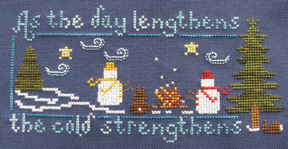 How Cold Is It? holiday cross stitch chart Misty Hill Studio