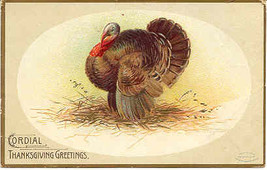 A Cordial Thanksgiving Artist Ellen Clapsaddle 1907 Vintage Post Card  - $6.00