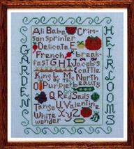 Garden Heirlooms cross stitch chart Misty Hill Studio - $9.00