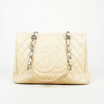 """Chanel 2010-2011 Quilted Caviar Leather """"Grand Shopping Tote"""" Bag - $2,310.00"""