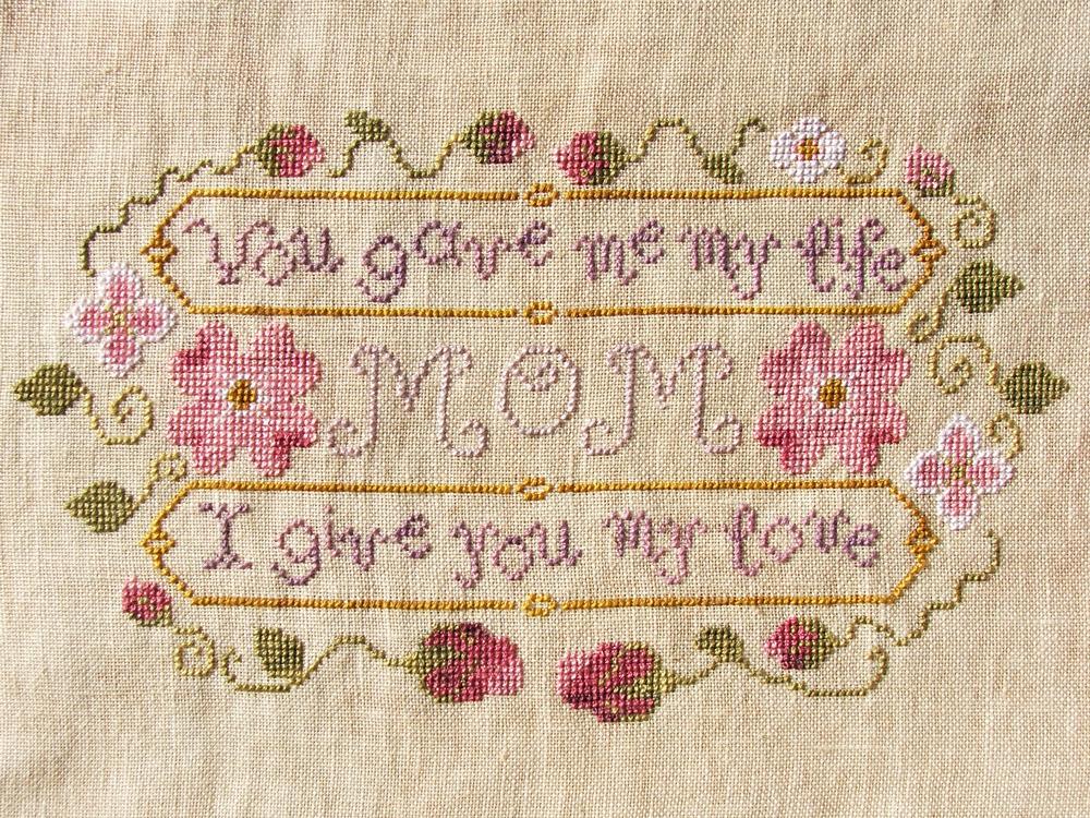 Mom's Gift cross stitch chart Misty Hill Studio