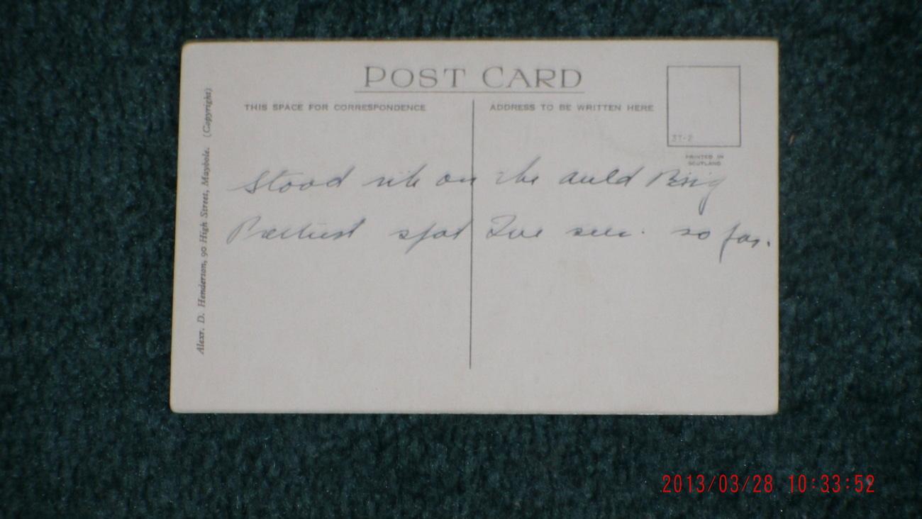Vintage AULD BRIG O' DOON , ALLOWAY, AYR. Scotland POSTCARD Alexr. D. Henderson