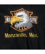 Harley Davidson Manzanillo Mexico Embroidered T-Shirt Men's Size XL - $9.89