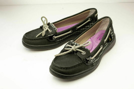 Sperry Top-Sider US 6 Black Gray Boat Shoes - $19.00