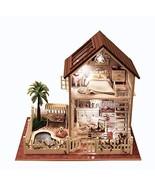 Rylai 3D Puzzles Wooden Handmade Miniature Dollhouse DIY Kit w/ Light -P... - $53.10